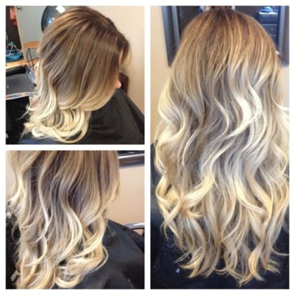August Hair Blog Post: Freshened up my client's blonde ombré the other day. This is definitely one of my favorite looks.: