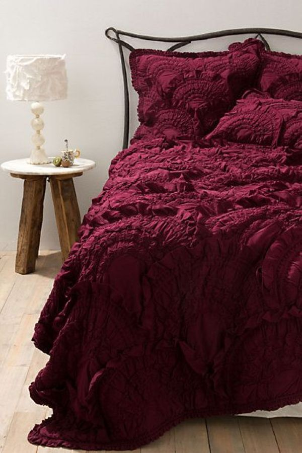 Rivulets Bedding #anthropologie...LOVE the richness of this color and texture. If only.: