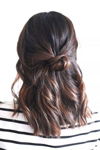 Add a bun to your long bob hairstyles!