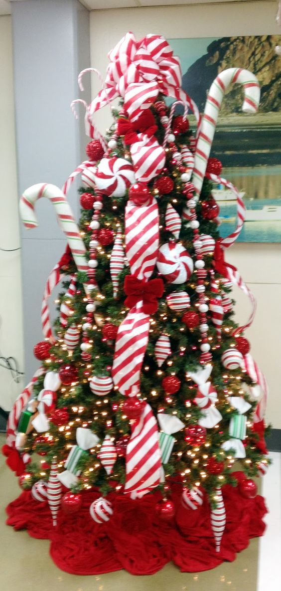 Candy Cane Christmas tree. Keeping Christmas Pinterest
