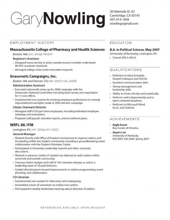 ideas basic pinterest resume resume design and resume layout