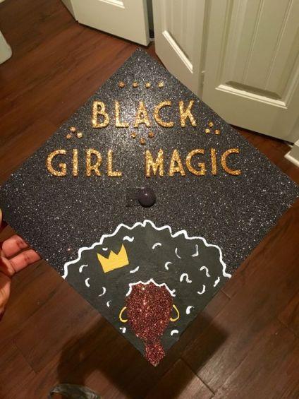 Black girl magic graduation cap!: