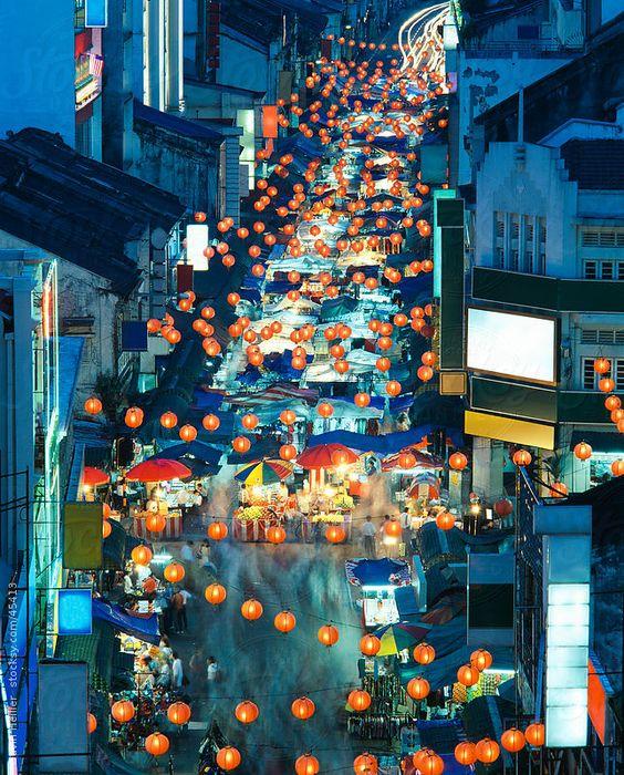Chinatown night market, Petaling Street, Chinatown, Kuala Lumpur, Malaysia, Southeast Asia by Gavin Hellier