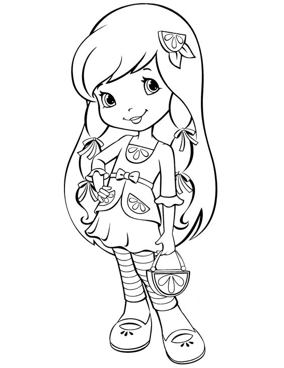 strawberry shortcake coloring pages and coloring on pinterest