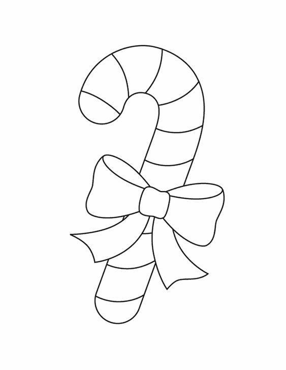 ornament patterns candy cane free printable coloring pages