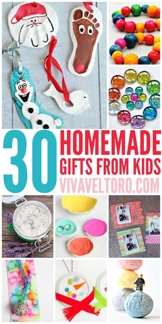 30 Homemade Gifts from Kids Crafts, Parents and Homemade