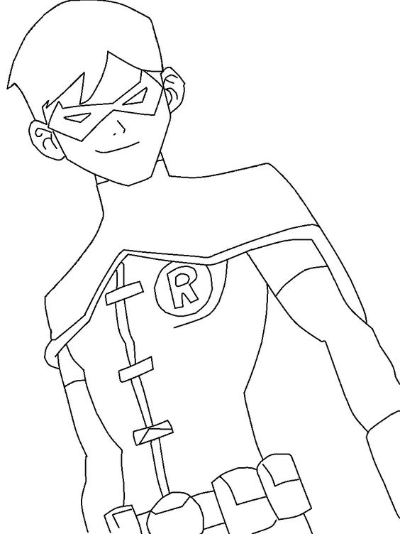 young justice robin young justice and coloring pages on pinterest
