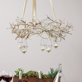 Diy Decorating How To Create A Branch Chandelier Materials Natural Branches Rope