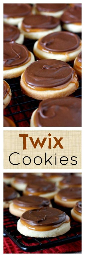 Twix Cookies - 5 Amazingly Easy Candy Bar Cookie Recipes