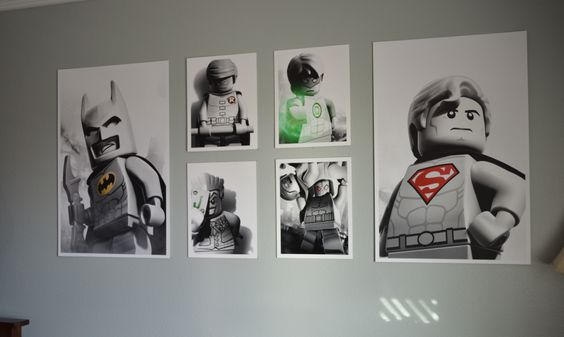 lego art prints photo wall