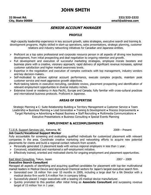 sample resume resume sourcing on director manager global vendor