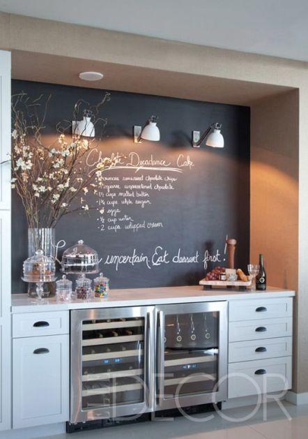 Chalkboard Paint Wall Kitchen Bar