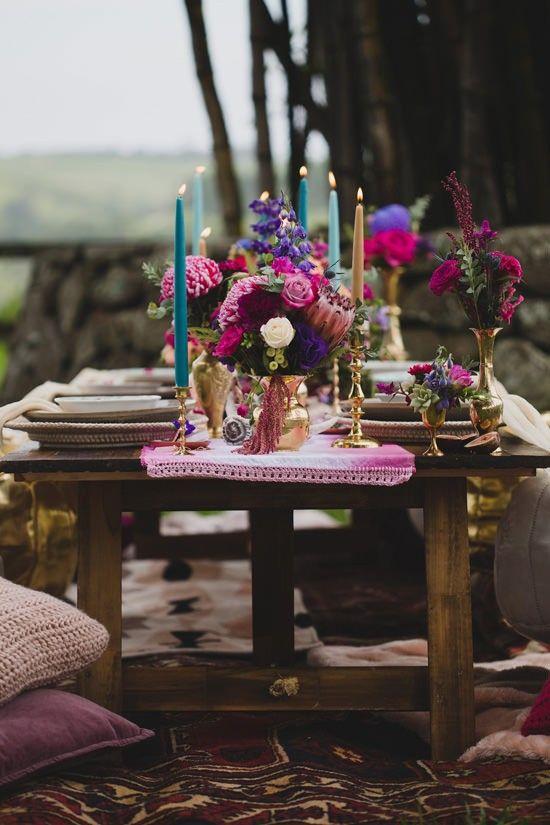 Playful gemstone inspired bridesmaid luncheon inspiration