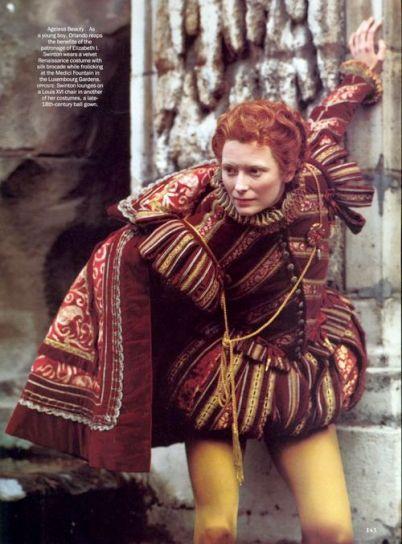 Tilda Swinton as Orlando (one of the best movies EVER)...  costume designer Sandy Powell & Dien van Straalen: