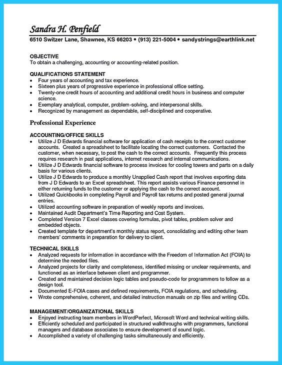 resume summary and strength on pinterest