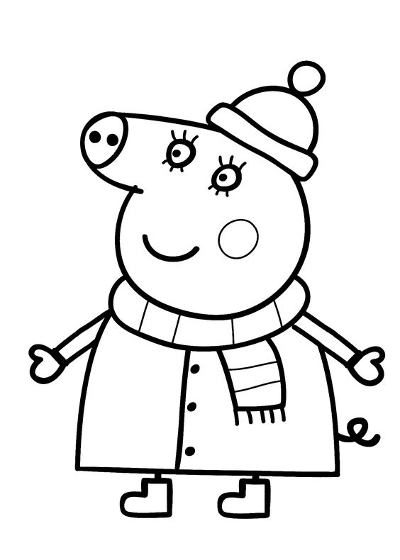 peppa pig cartoon coloring pages for kids and peppa pig on pinterest