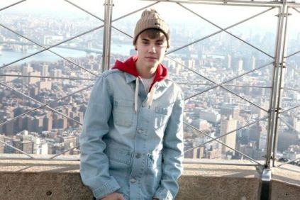 In 2011 the singer Justin Bieber visiting 86th floor observation deck