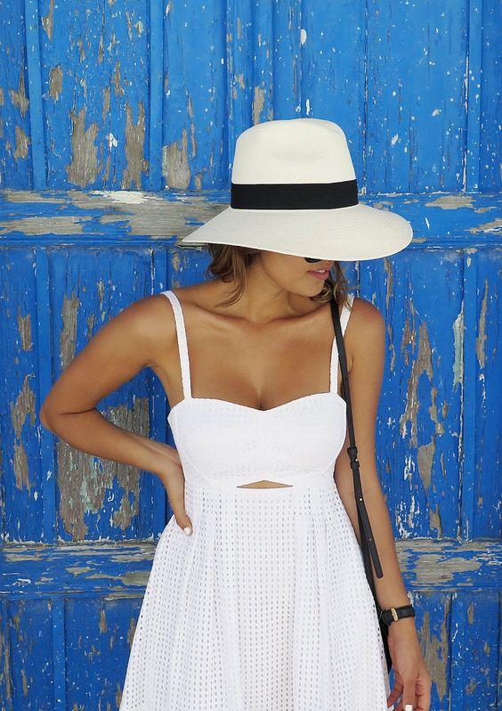 White summer dress: