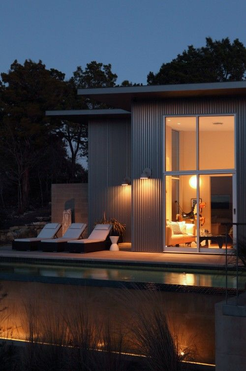 10 painéis de papelão ondulado para o pool de design moderno casa moderna: