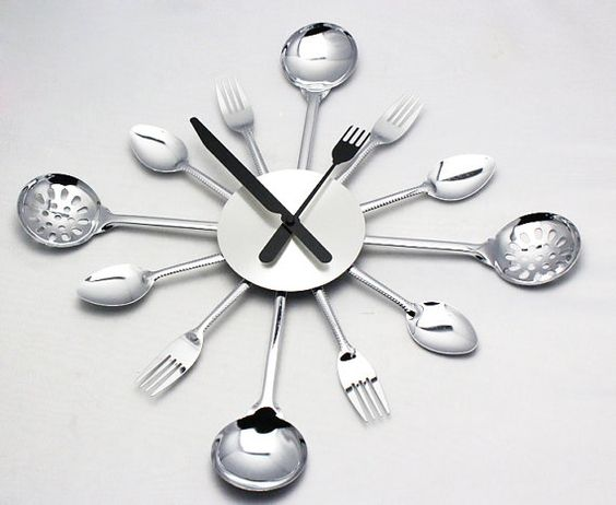Spoon & Fork Creative Designer Kitchen Wall Clock