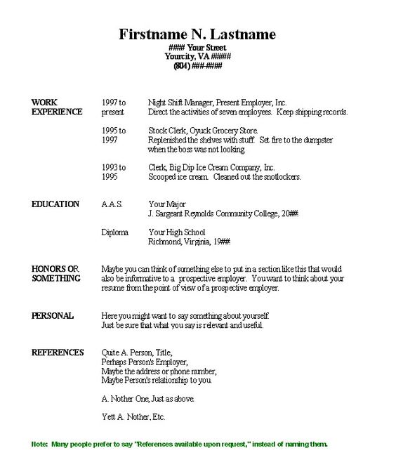 blank resume template for high school students free resume