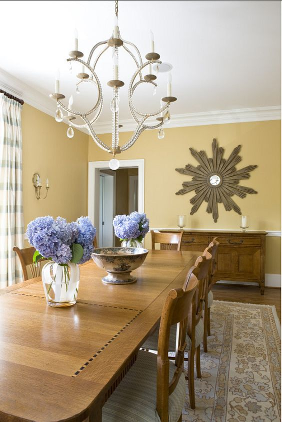 golden paint color for dining room