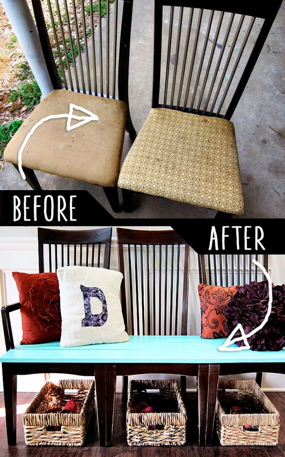 DIY furniture, Hacks and Kitchen chairs on Pinterest