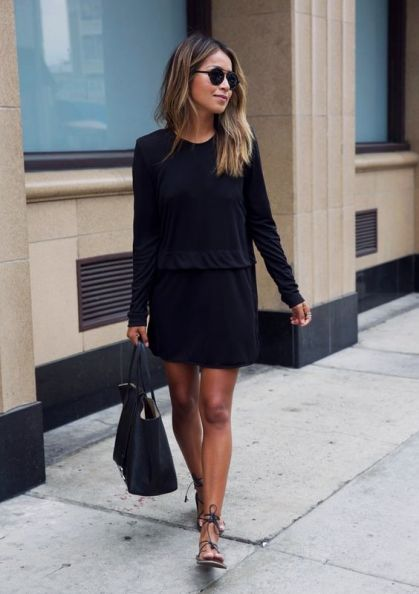 shoes to wear with a little black dress - how to wear a little black dress with strap sandals