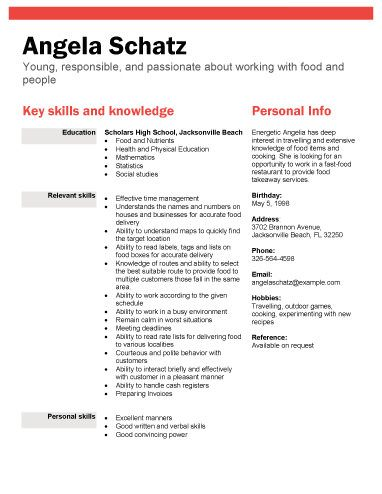 resume student resume and high school students on pinterest