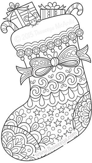 coloring christmas stockings and coloring books on pinterest