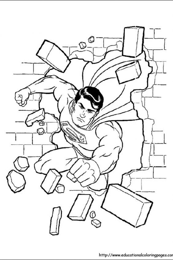 kids coloring pages kids coloring and superman on pinterest