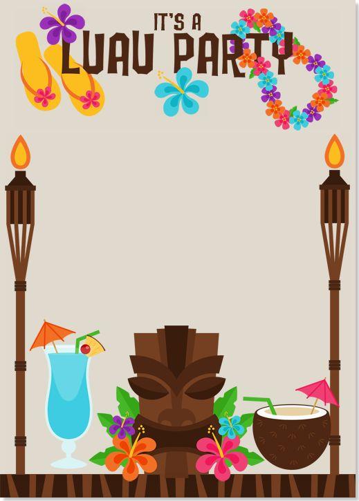graphic relating to Hawaiian Party Invitations Free Printable identify Luau Invitation Template. luau invites clipart clipart