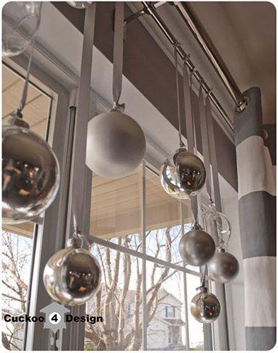 Combinação entre fitas e bolinhas é ideal para janelas: