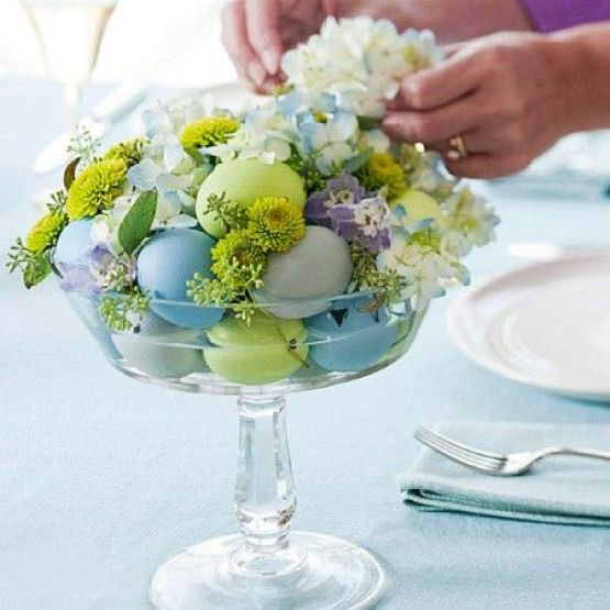 Easter Egg Centerpieces - 40 Beautiful DIY Easter Centerpieces to Dress Up Your Dinner Table: