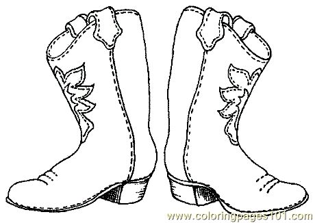 cowboy boots coloring pages and cowboys on pinterest