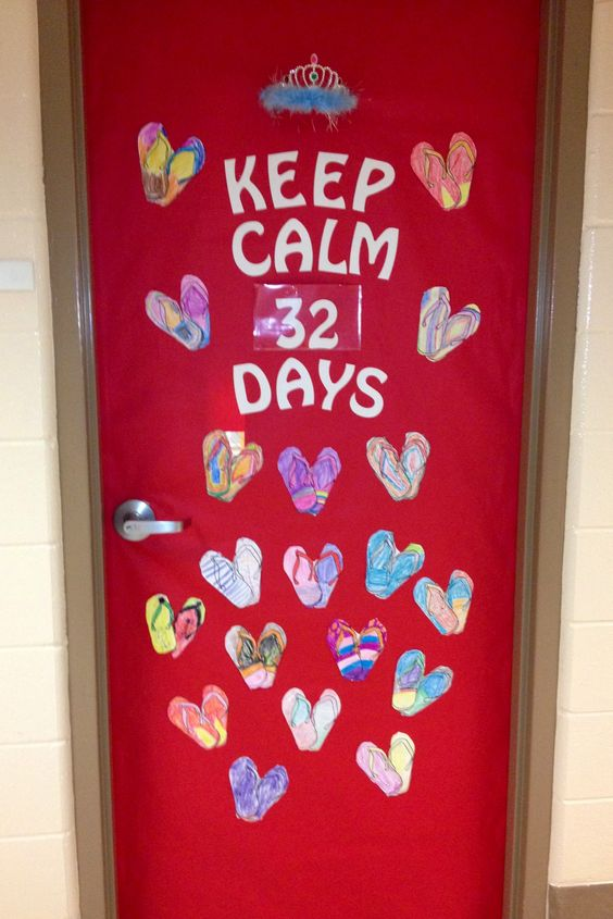 End Of The Year Countdown Classroom Door Kindergarten