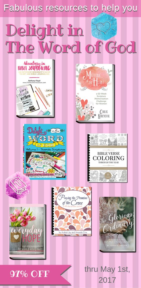 Fabulous Bible journaling & Bible study resources to help you delight in The Word of God - 97% off thru May 1st, 2017: