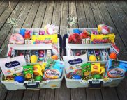Instead of grabbing the same old wicker Easter basket from the store, switch it up this year! There are so many good ideas that will surely put a smile on your child's face. My favorite is the kiddie pool for a family with multiple kids or donating one to a daycare/church! Click on the links …: