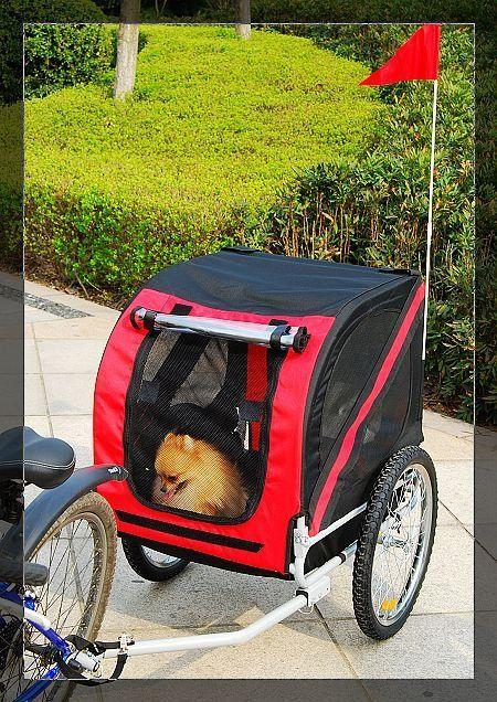 Dog Carrier for Bike Riding PetDogBikeBicycleTrailer