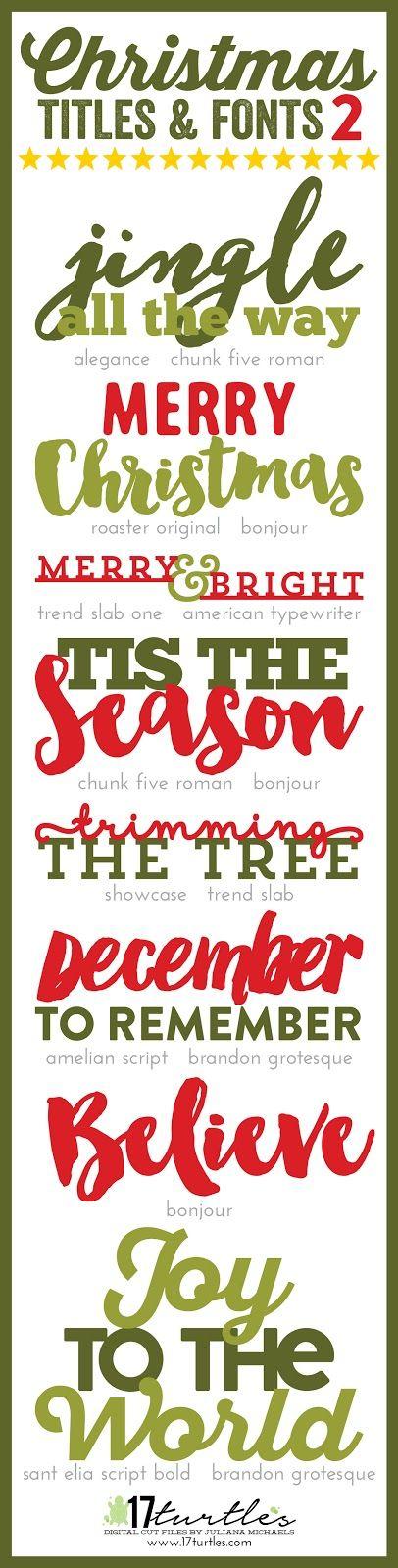 Fonts, Christmas and Christmas christmas on Pinterest