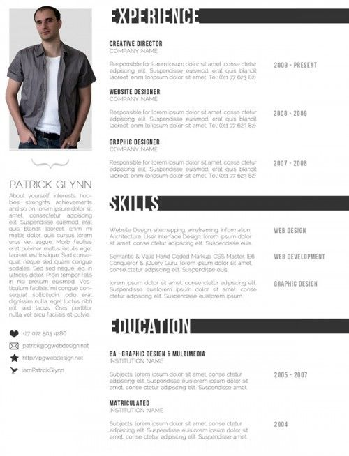 creative resume creative resume templates and resume on pinterest