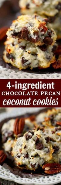 Pinterest recipe, Chocolate Chip Pecan Coconut Cookies