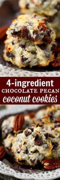Pinterest recipe, Chocolate Chip Pecan Coconut Cookies