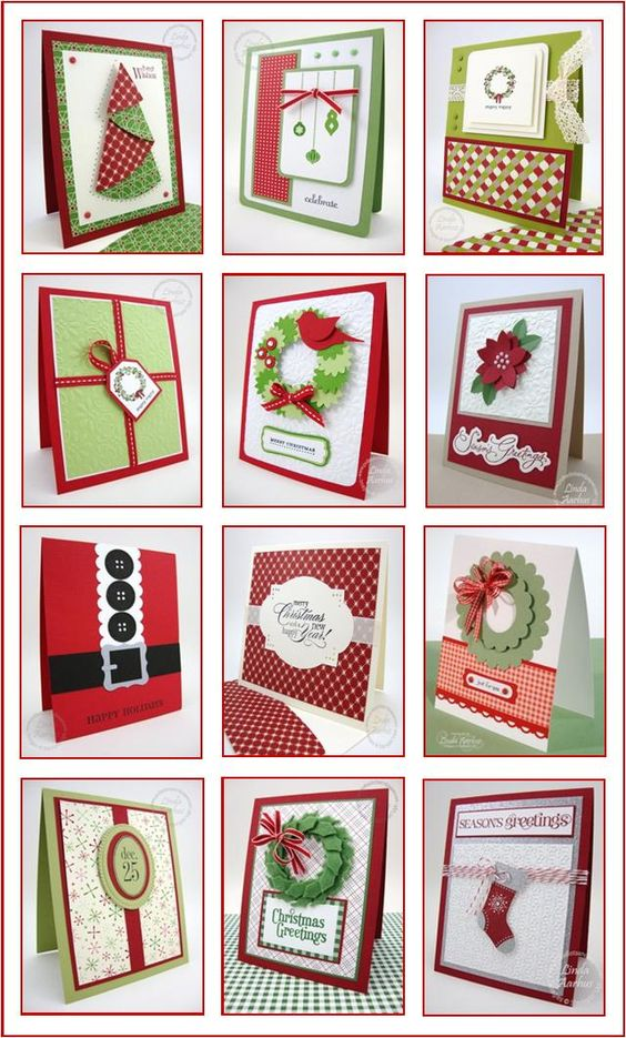 Stampin' Up! handmade Christmas cards clean and