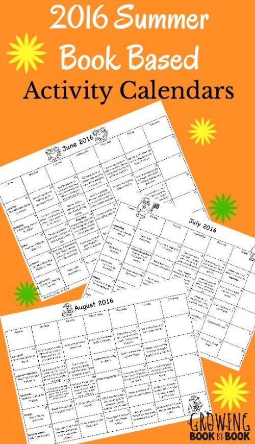 Summer activity calendars based on favorite books with a summer theme. Includes book recording sheets, library lists and bonus email tips! Great summer homework packet ideas.: