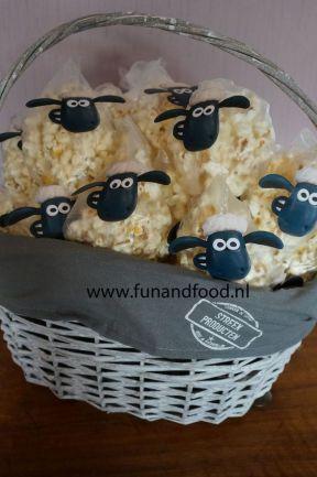 palomitas de maiz, obeja shaun, comida divertida para fiestas