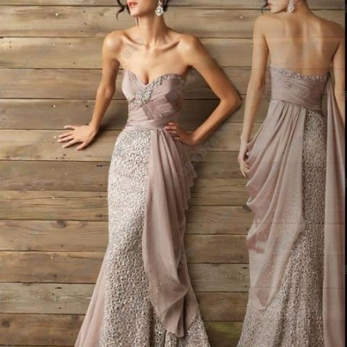 Tan/ Light brown unique styled prom dresses 2013 unique prom
