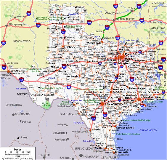 Texas Highway Map Print Free Print Out Maps TX State