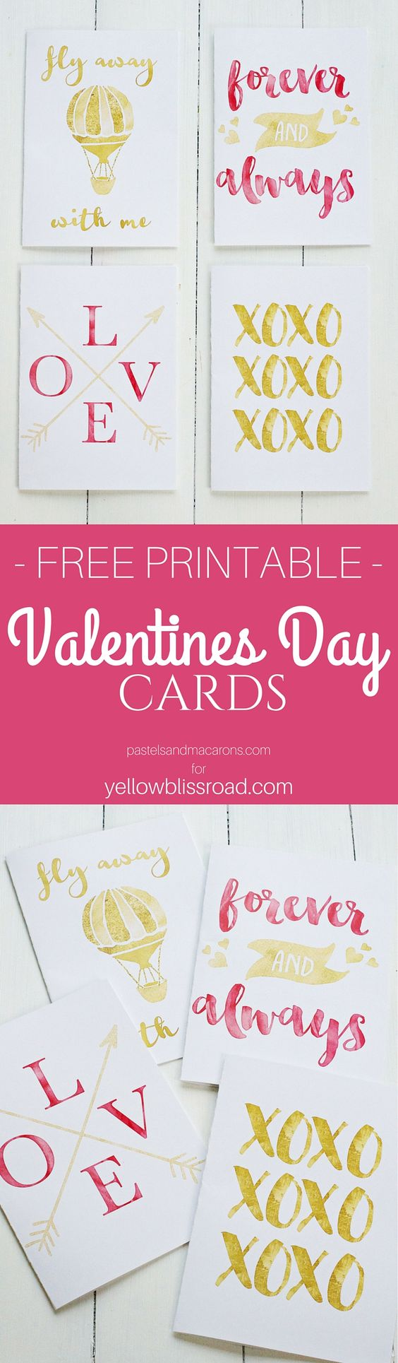 Free Printable Valentines Day Cards and Gift Tags landeelu – Valentine Card Free Printable