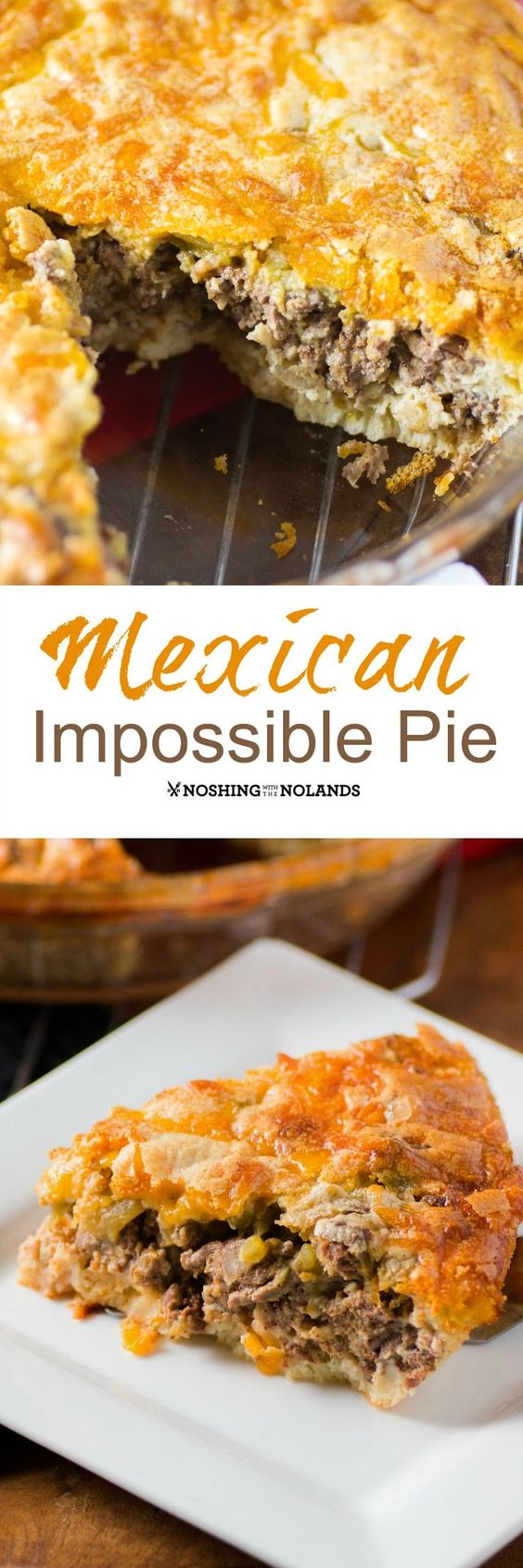 Mexican Impossible Pie Recipe Paper, Scrap and Names